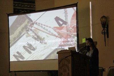 Maud Reavill presenting copy
